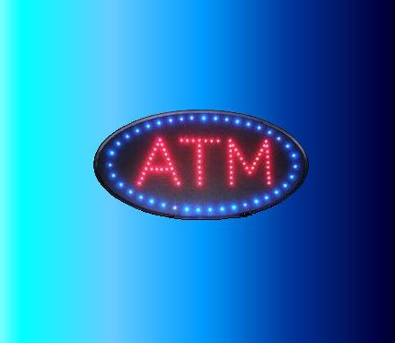 ATM Sign Round - LED
