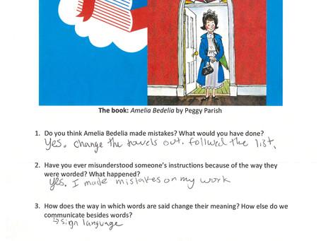 Book Club Review - Amelia Bedelia