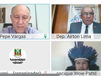 CCDH acolhe urgência da etnia Xokleng por demanda de território em São Francisco de Paula