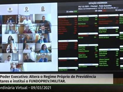 PT vota contra projeto que altera contribuição previdenciária de militares gaúchos