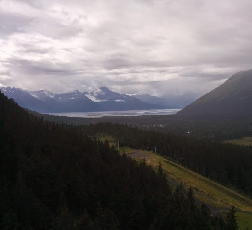 View from the top of the ski lift at Aleyska Resort