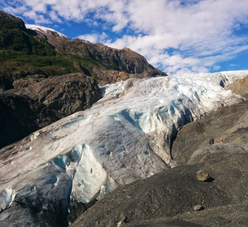 Exit Glacier – see the tiny humans?