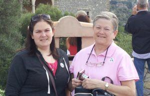 Amanda & Vickie outside of Palma de Mallorca