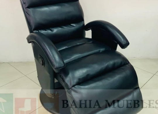 Sofa Reclinable Cuerina Negro