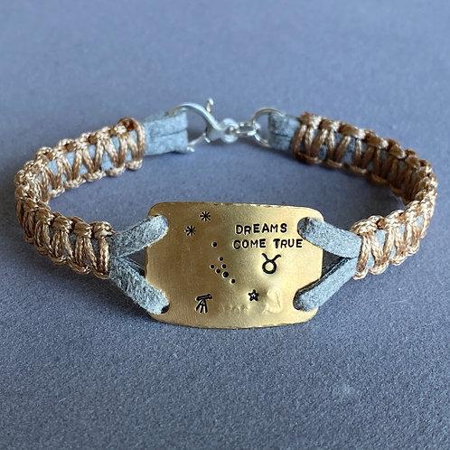 Zodiac Brass Bracelet
