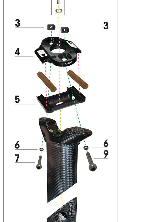SEAT POST TOP CAP KIT 0mm RB1K  / RB0.8K