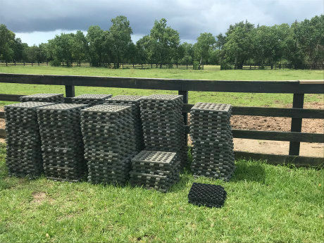 Mud Control Grids on horse farm