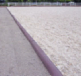 Recycled plastic arena edging_cropped