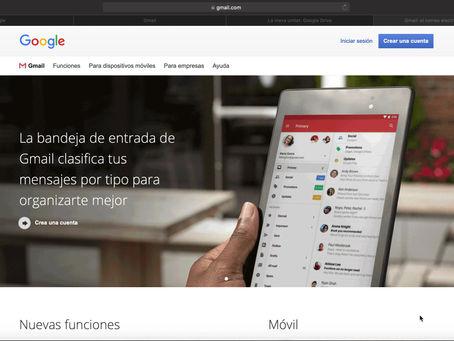 Gmail. Un missatge, moltes opcions...