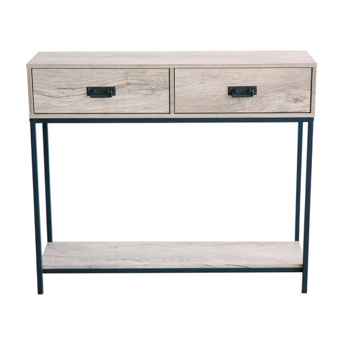 Design: 2 Drawer Console Table Gives You Spacious Space To Keep Your Mails,  Keys, Magazines And Small Household Items.