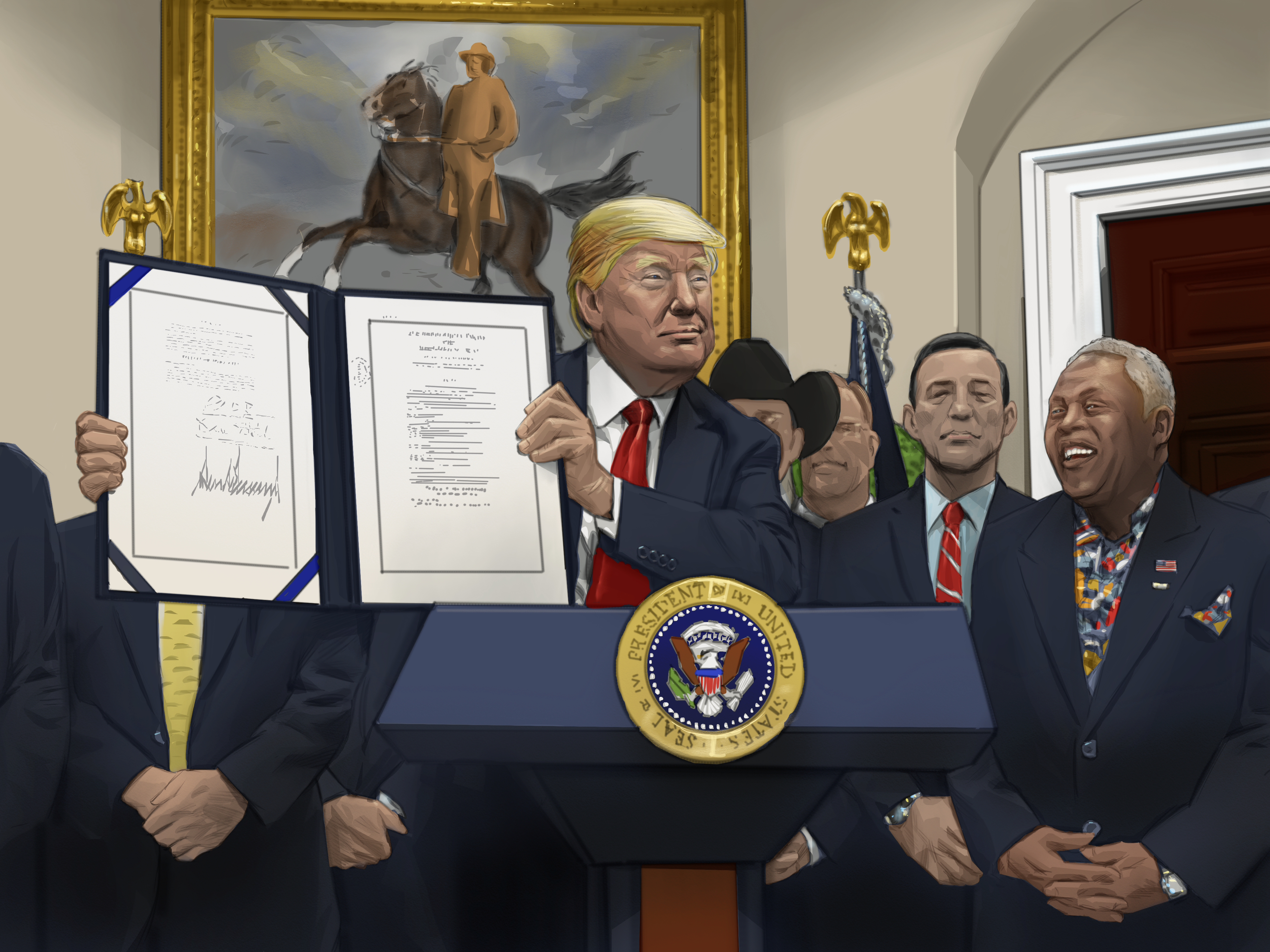 Sam w/ President Trump at the  Whitehouse