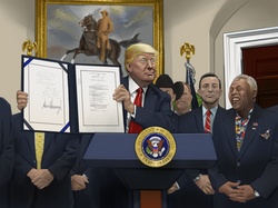 Sam w/ President Trump at the  Whitehouse