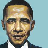 Obama 24x24 Acrylic on Aluminium 2008