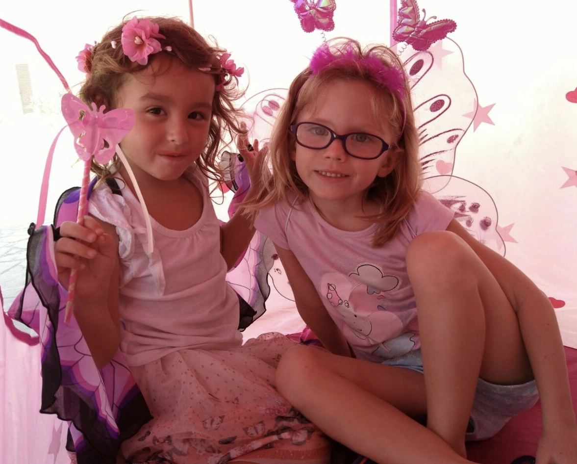 Handmade butterfly wands for playing dress-up