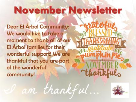 Our November Newsletter