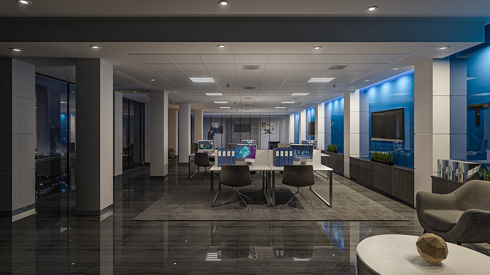 3D Rendering TechFour Office