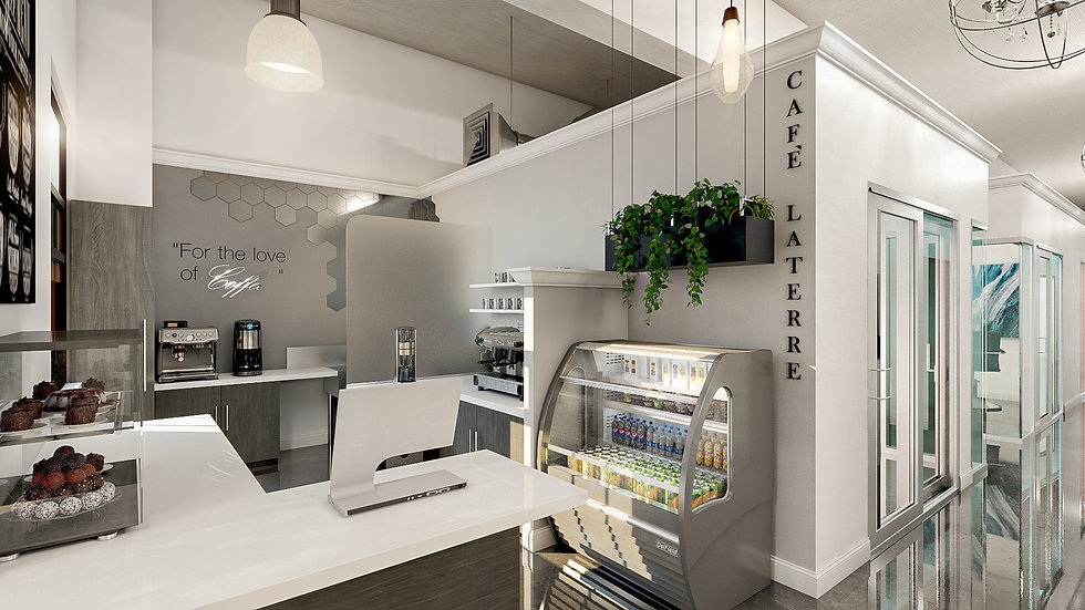 3D rendering Cafe Laterre