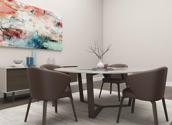 Moore CirSix Dining Set