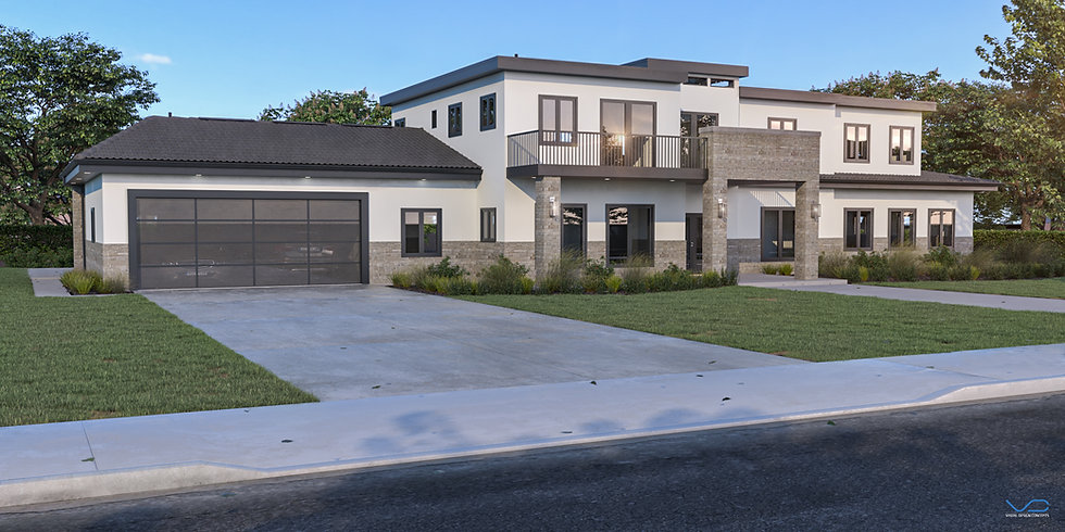 3D rendering Custome home