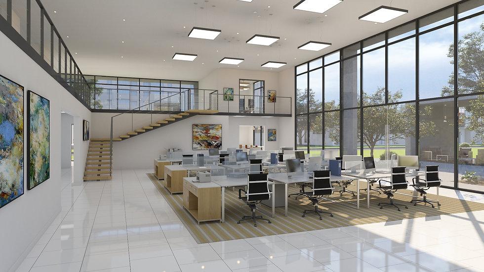3D renderin workroom plaza