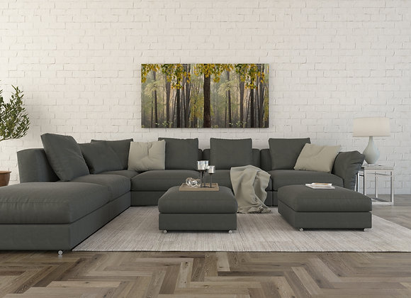 HC L Form Sectional sofa set in browns