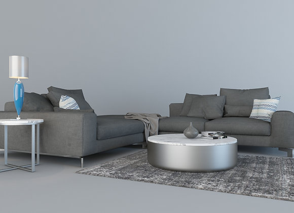 HC L Form Sectional sofa set in grays