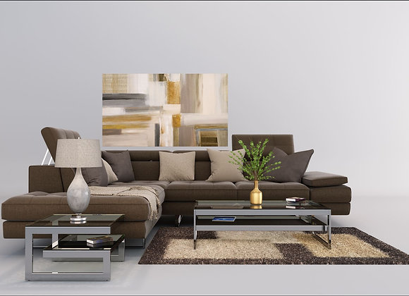 Verti sectiona sofa set in Brown