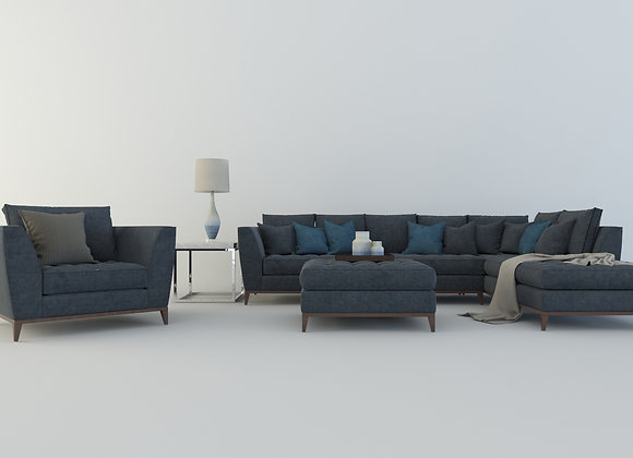 Macy Barbican sofa set in blue