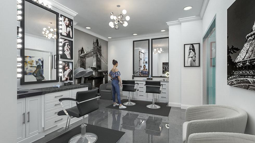 3D rendering Salon world suites large suite