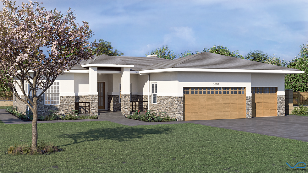 3D renderin Spec home twin peak homes