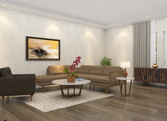 Peggy sofa set in neutral