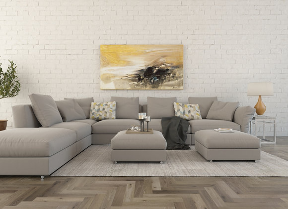 HC L Form Sectional in neutral