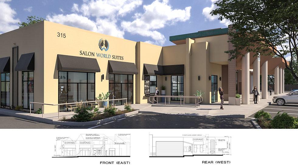 3D Rendering Salon World Suite Solana Beach