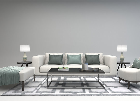 Taylor sofa set in white