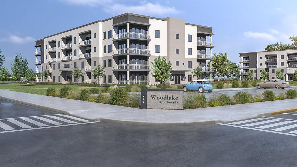 3D Rendering Woodlake Apartments