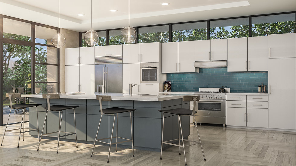 3D Rendering Kitchen PS opt one