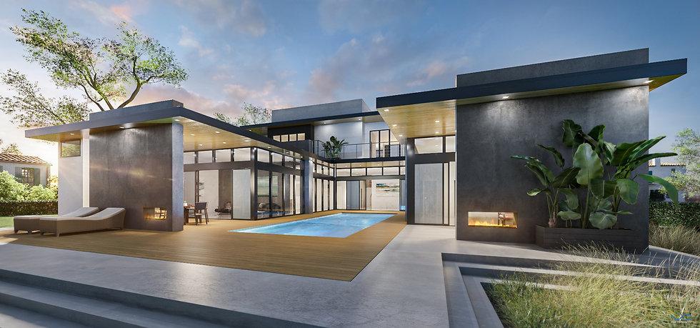 3D Renderng LD Home Exterior Rear