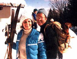 Zaida Knight, Peter, and our dauschund, Foxy