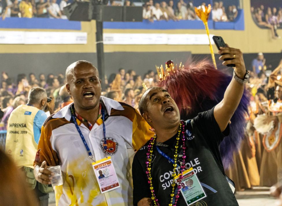 Viradouro organizer takes a selfie