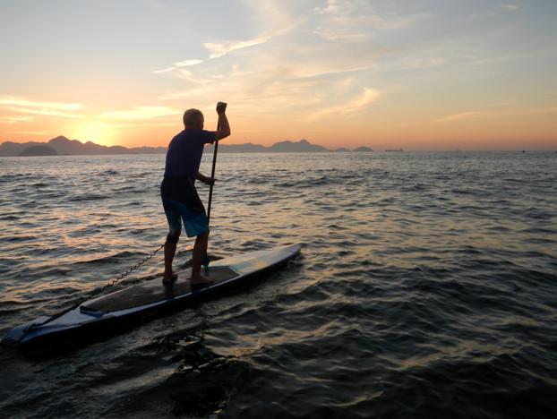Leaving Posto 6, Copacabana at Dawn