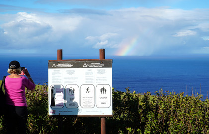 Rainbow over the Pacific from Orongo