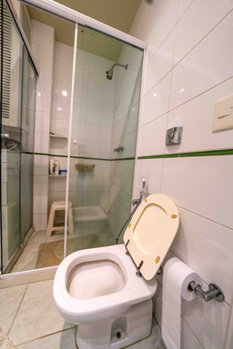 Master suite toilet and shower