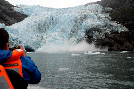 Condor Glacier calving