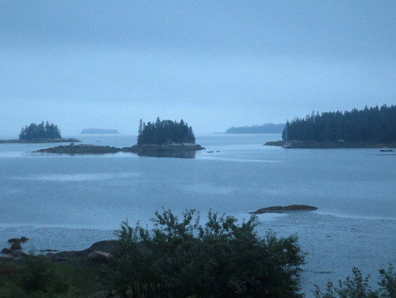 Islands at dusk