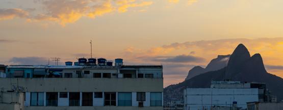 Evening view toward Dois Irmãos and Pedra da Gávea