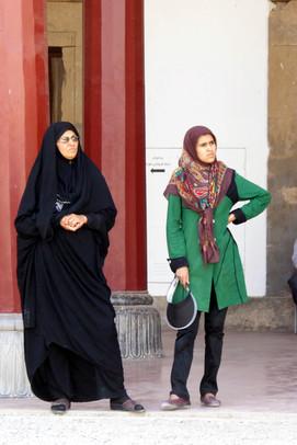 Mother and daughter, Persepolis, Iran