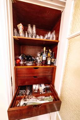 Upper part of dining room closet