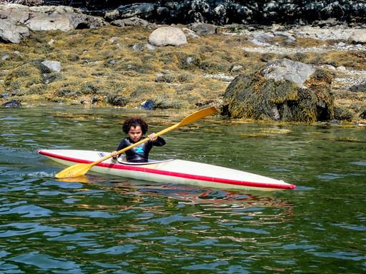 Iris Sanders takes a paddle