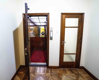 Elevator open on third floor.