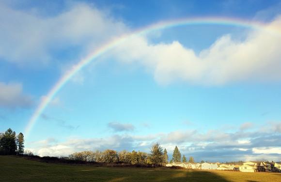 Rainbow in Corvallis